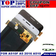 Replacement LCDs For Samsung Galaxy A5 2016 A510F A510M A510FD A5100 A510Y AMOLED LCD Display Touch Screen Digitizer Assembly(China)
