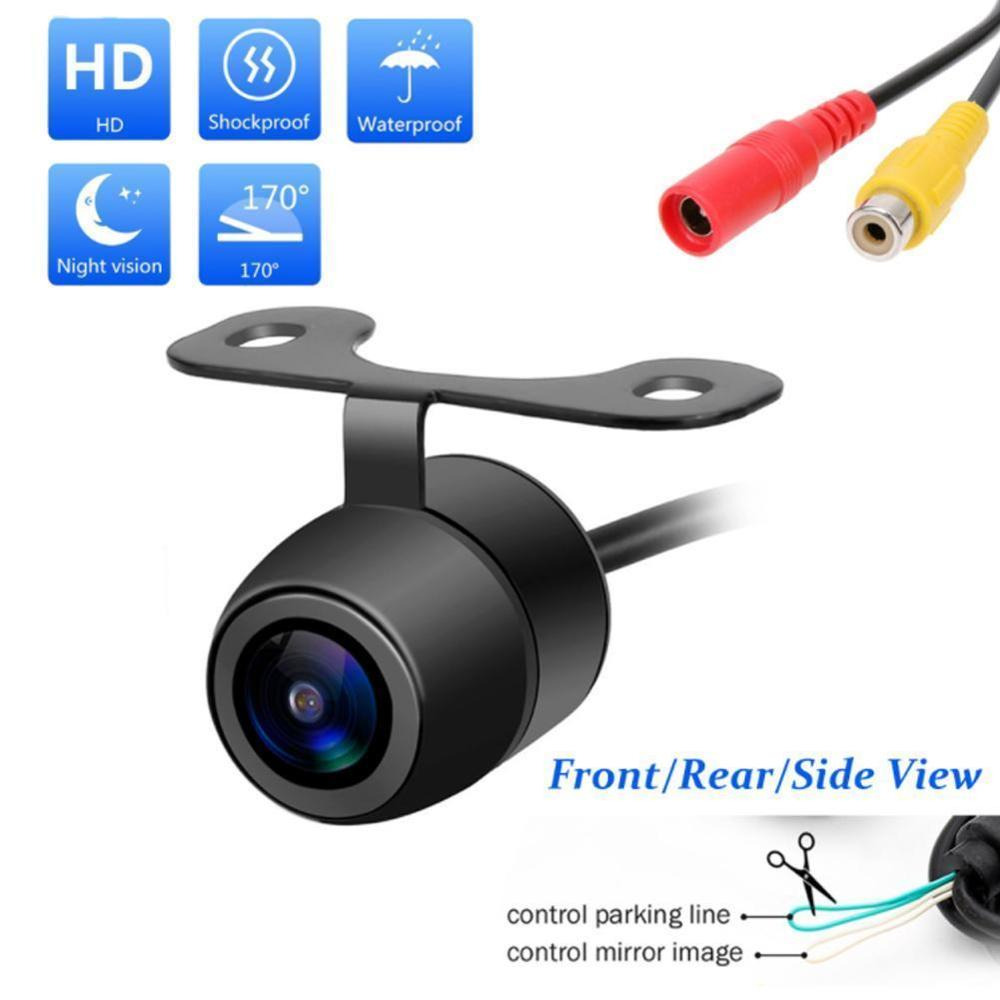 Universal Waterproof CCD Car Vehicle Rearview Front Side View Backup Reversing Camera With Or Without Mirror Image Convert Line