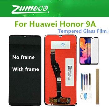 Перейти на Алиэкспресс и купить Оригинальный 6,3 дюйма для Huawei Honor 9A, ЖК-дисплей с сенсорным экраном 10E, стеклянный датчик с рамкой и набором