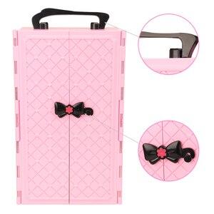Image 3 - Mode 43 Items/Set Poppenhuis Meubels Speelgoed = Garderobe + 42 Poppen Accessoires Kleding Voor Barbie Ken Game Kerst kinderen Speelgoed