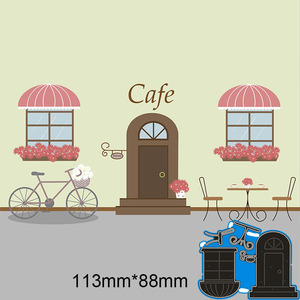 113*88mm door chair and table New Metal Cutting Dies Scrapbook paper decoration template Embossing DIY Paper Card Craft