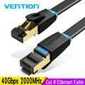 Vention חתול 8 Ethernet כבל רשת כבל במהירות גבוהה 40Gbps SFTP חוט אינטרנט תיקון כבל עם RJ45 מחבר עבור נתב מודם