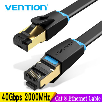 Vention Cat 8 Ethernet Cable Network Cable High Speed 40Gbps SFTP Wire Internet Patch Cable with RJ45 Connector for Router Modem rj45 ethernet internet network cable blue 5 m