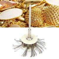 Texturing-cepillo de alambre de Metal mate, herramienta de fabricación de joyas con mango de 2,35mm para limpieza de joyas, pulido, Dremel, rotativo