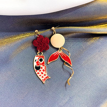 2019 New Korean Geometric Various Colors Round Earrings Irregular Metal drop for Women Girl Gift