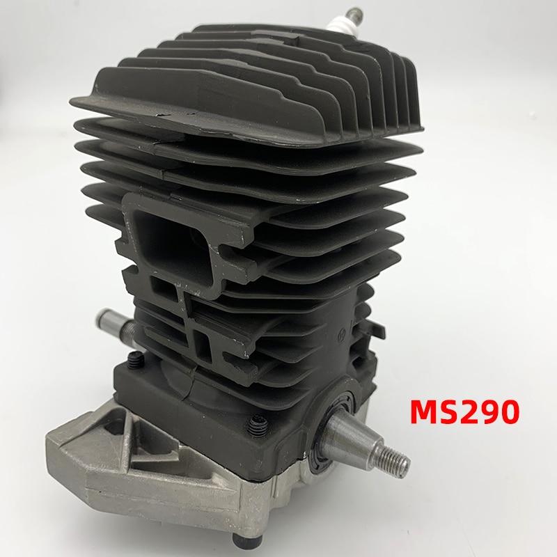 039 Kit 49mm MS290 Engine Crankshaft 46mm  Amp Pan Stihl  Motor 029 For MS390 Chainsaw MS310 Cylinder Fit Engine  Parts Base Piston