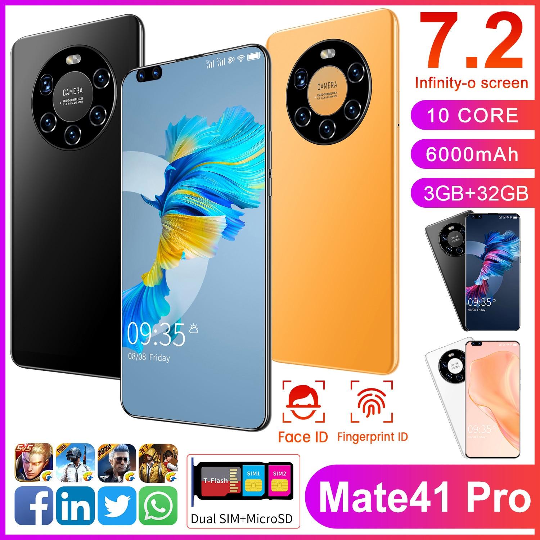 Смартфон Huawie Mate 41 Pro, 7,2 дюйма, 3 + 32 ГБ, Android 10,0