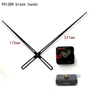 100 sztuk 12888 okrągły otwór wysoki moment obrotowy ruch Sweep 6mm oś śrubowa mechanizm kwarcowy z 90128 # czarne dłonie zegarek DIY zestawy