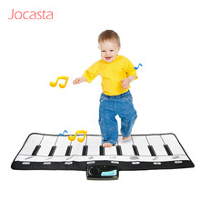 Big Size 110x36 cm Piano Music Mat for Kids With 8 Instrument Hand Feet Touch Play Tones Baby music playmat Educational Toys ]