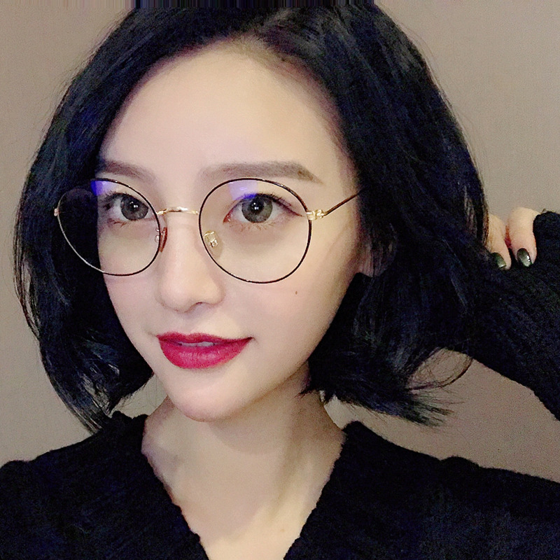 2018 Korean Style Round Frame Glasses Frame Literature And Art