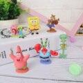 6 ピース/セット子供のおもちゃパトリックスター Squidward 触手ユージンシェルドンゲイリー装飾品漫画アニメスポンジフィギュア玩具