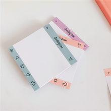 50 folhas criativo simples notas pegajosas estudante planejador adesivos bloco de memorando para fazer lista diário ins estilo escola papelaria