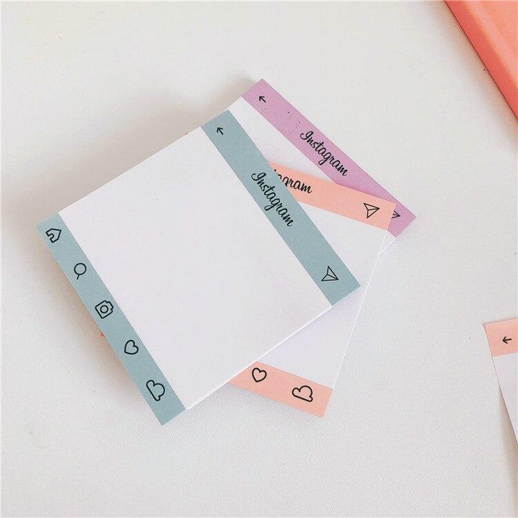 50 arkuszy kreatywne proste kartki samoprzylepne studenckie naklejki Do planowania notatnik Do zrobienia List pamiętnik Ins stylowe przybory szkolne