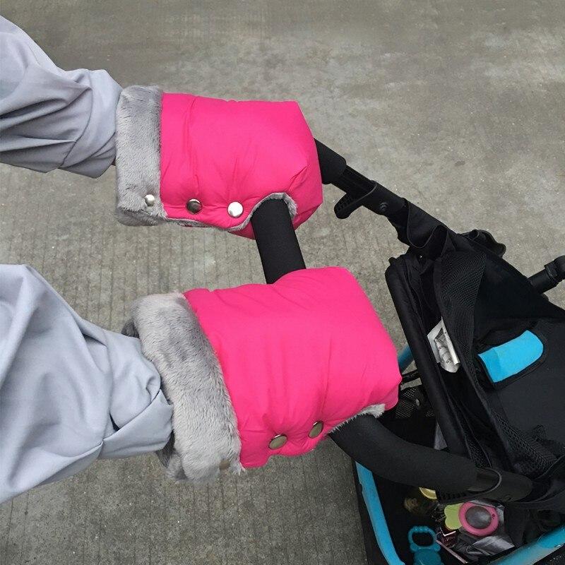 Winter Pram Hand Muff Waterproof Pram Accessory Mitten Winter Warm Stroller Gloves Kids Pushchair Hand Muff Baby Buggy Clutch Cart Outdoor Glove Fall Muff Glove Stroller Accessories