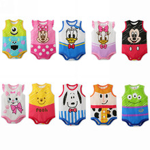 2020 Summer Baby Girls Bodysuits Cartoon Newborn Sleeveless Body Clothing Cotton Infant Jumpsuits Toddler Boys Bodysuit