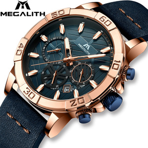 Image 2 - 2019 MEGALITH Top Brand Watches Mens Sport Chronograph Waterproof Casual Clocks For Mans Fashion Wrist Watches Men Montre Homme