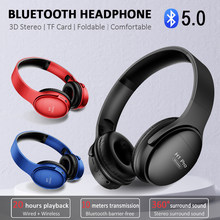 H1 Pro Bluetooth Headphones Wireless Eearphone with Mic Hands-free HIFI Stereo BT5.0 Over-Ear Headset support TF Card