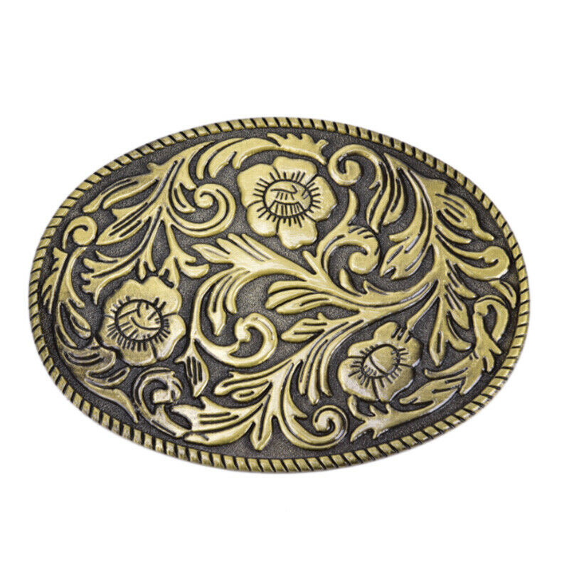 Unisex Flower And Plants Metal Alloy Belt Buckle For 1.5 Inch Width Cowboy And Cowgirl Metal Tool Western Belts Buckles