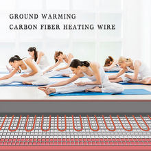 New 100M Heating Cable Warm Heater Wire Greenhouse Vegetables Farm Heating Equipment Home Floor warm 12k Carbon fiber heating wi(China)