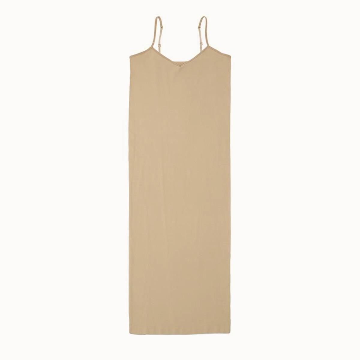 Stretchy Seamless Midi Slip Dress V Neck Sleeveless Cami Vestido Slim Bodycon Underdress 2020 Summer Women Strap Dresses 8