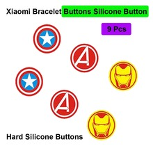 Mi Band 4 3 Bracelet Buttons Avengers Button For Xiaomi Mi Band 3 4 Smart Wristband Iron Man Button Miband 4 3 CA Buttons 9 Pcs xiaomi mi band 4