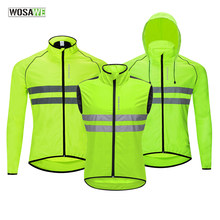 WOSAWE a prueba de viento Jersey de ciclismo de carretera MTB bicicleta viento chaqueta de manga larga sin mangas deportes al aire libre cazadora de bicicleta