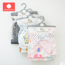 75*120cm Winter Baby Blanket Thicken Soft Coral Fleece Infant Swaddle Envelope Stroller Wrap For Newborn Baby Bedding Blankets free shipping baby blanket coral fleece flannel blanket bedding thicken air condition plaid cartoon blankets 200cmx230cm
