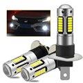 2 шт. 881 H27 880 H1 H3 высокое Мощность Светодиодные Автомобильные передние Противотуманные огни H27W Анти-туман лампы авто, вождения, бега, светильн...