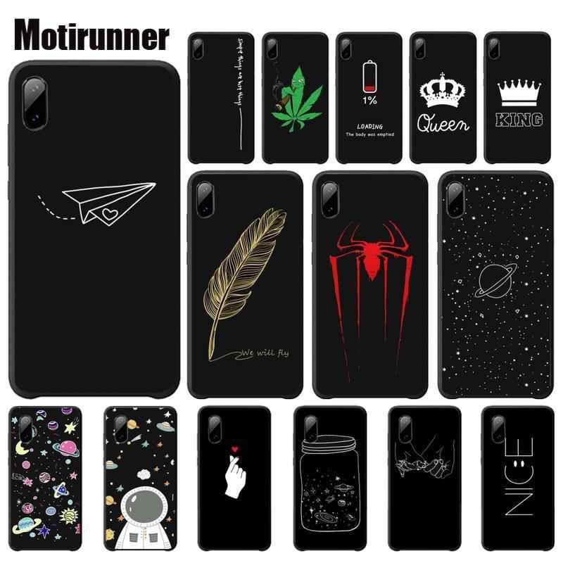 Motirunner Kartun Pola Planet Ruang Starluxury Ponsel Case untuk Xiaomi Mi 5 6 6X8 Se Lite Mix 2 2 S 3 Aksesoris Telepon