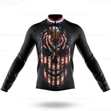 Usa Heren Wielertrui Lente/Zomer Kleding Lange Mouw Mountain Outdoor Triathlon Slijtage Fiets Kleding Maillot Ropa Ciclismo(China)