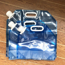 лучшая цена Outdoor camping water bag travel portable bucket large capacity 3L-10L riding hiking folding kettle drinking water bag