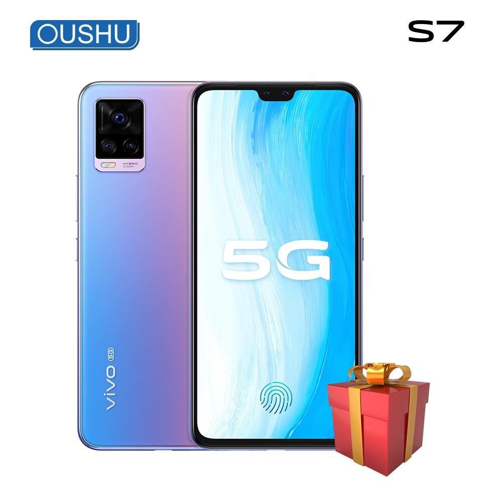 Оригинальный vivo S7 двойной режим 5G мобильного телефона 6,44 ''amoled Экран Snapdragon 76 5G Celular 64MP сзади Камера Android телефон