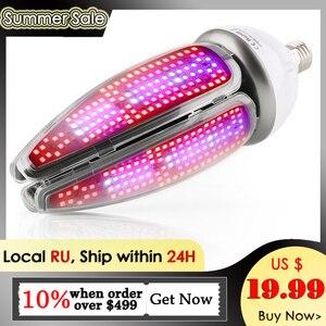 Image 1 - 150W LED Milho Luz Planta E40 E27 AC85 265V Cob Espectro Completo Levou Chip de 360 Graus Iluminação de Crescimento de Plantas de Floração lâmpada de Milho Bulbo