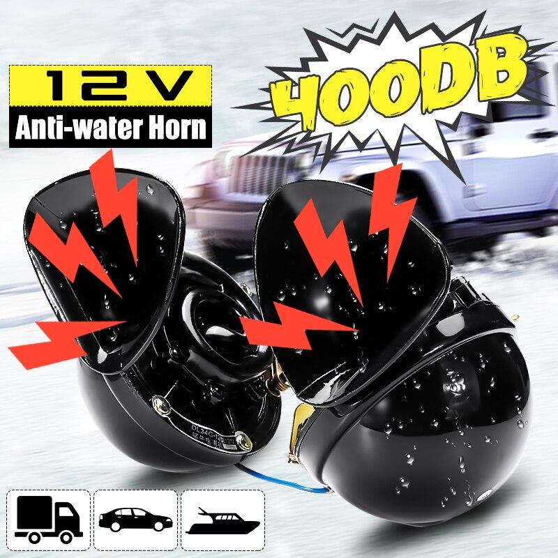 300DB klaxon de train pour camions klaxon de moto 12v fort /étanche double klaxon /à air audio son de rage pour voiture moto camion bateau