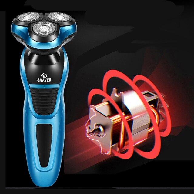 電気シェーバー 4Dフローティングカミソリヘッド充電式シェービングマシン全身洗えるあごひげトリマー男性フェイスケアツール 40D