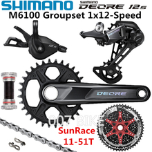 SHIMANO DEORE M6100 Groupset MTB Mountain Bike Groupset 1x12 Speed 32T 170 175mm 10 51T M6120 Rear Derailleur Shift Lever