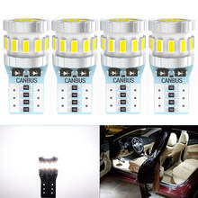 4Pcs T10 W5W LED Lamp CANBUS No Error Auto Interior light for Toyota Camry Corolla Prius Venza Tacoma Auris Rav4 Land Cruiser