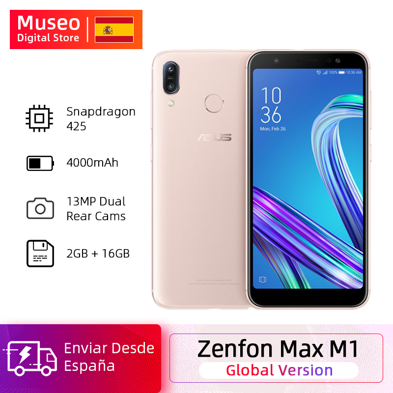 Global Version ASUS ZenFone Max M1 ZB555KL 4G LTE Mobile Phones 2GB 16GB Android 8.0 5.5'' 4000mAh Dual Rear Camera Smartphone