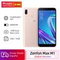 Versão global asus zenfone max m1 zb55kl 4g lte telefones celulares 2 gb 16 gb android 8.0 5.5 smartphone smartphone 4000 mah câmera traseira dupla smartphone