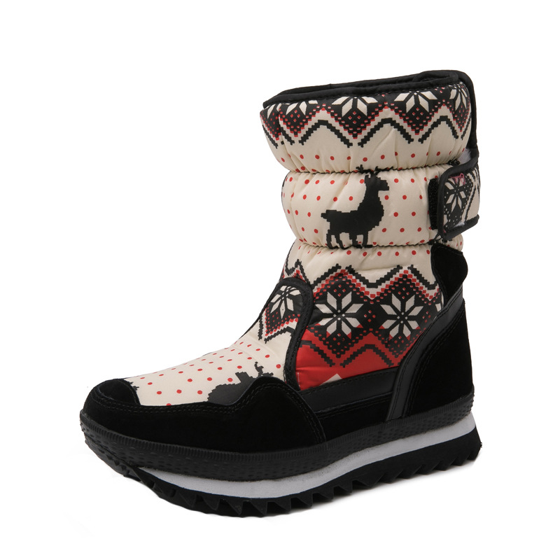 Kids Soft Martin Boots Boots Girls Fashion High Cartoon Boots Soft Bottom Princess  Wear-resistant Warming Waterpoof Boots