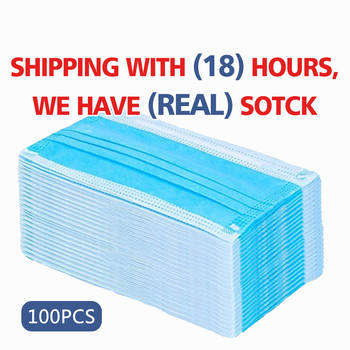 Anti-Pollution Mask Prevent Dust Virus Bacteria Mask Face Mouth Nose Cover Masks Earloop Meltblown Cloth Mask Fast Delivery tanie i dobre opinie disposable face masks dust fil tering three layers 50pcs=1box