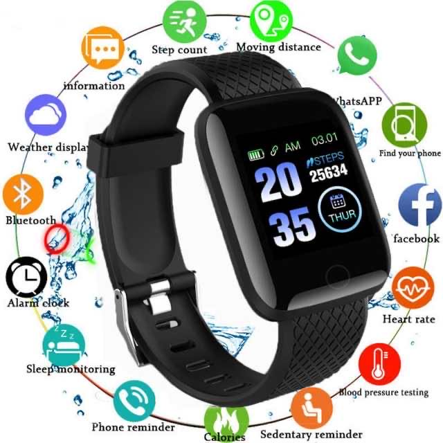 Explosion Model 116 Plus Smart Bracelet Wristband Fitness Blood Pressure Heart Rate Android Pedometer D13 Waterproof For Women
