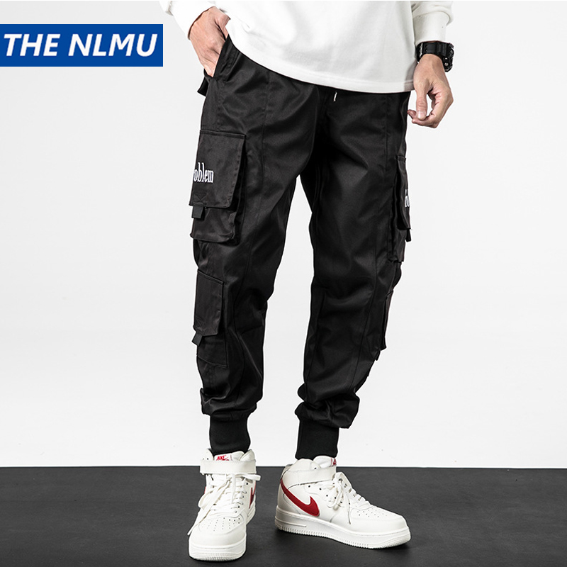 2020 Men Joggers Cargo Pants Multi-pocket Streetwear Casual Sweatpants Pant Hip Hop Slim Fit Trousers Pocket Male WO256