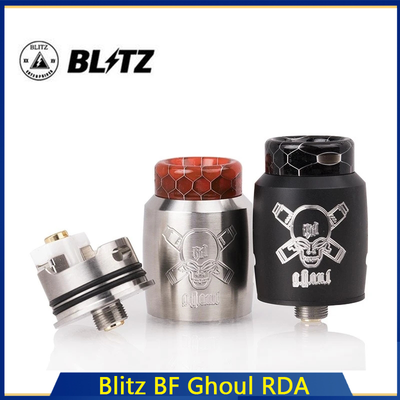 Clearance G-taste Blitz BF Ghoul RDA Vape Tank 22mm Overall Diameter Atomizers Fit 510 Thread Box Vape Mod Electronic Cigarettes