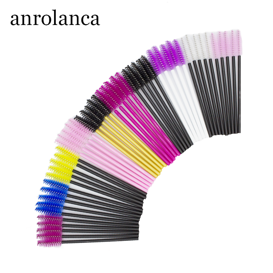 50/100 Pcs Lashes Extension Eyelash Brushes Disposable Mascara Wands Applicator Spoolers Mini Eyelash Brushes Lashes Makeup Tool