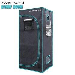 Marshydro 1680D led indoor garten hydrokultur zelt 2' 3 ''x2' 3'' x5' 3 ''(70x70x160 cm) pflanzung system wachsen zimmer pflanzen zelte
