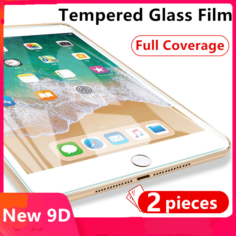 Tempered Glass For IPad 2017 2018 9.7 Air 1 2 Screen Protector For IPad Mini 1 2 3 4 5 Protective Film For IPad Pro 11 10.5 9.7