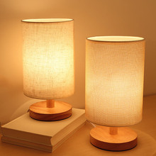 USB powered Modern Nordic wood table lamp night light for bedroom illumination warm white gift wooden Bedside kids room decor