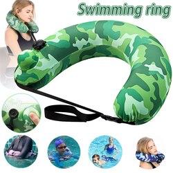 Плавательный ремень портативный надувной плавательный круг бассейн поплавок подушка для путешествий для бассейна пляжа S66