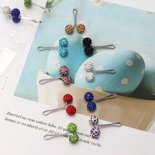12 Pcs/Set Muslim Hijab Scarf Safety Pin Clips Rhinestone Ball Brooch Fashion Jewelry Decoration
